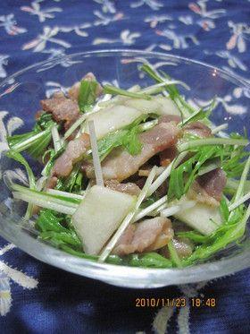 水菜とベーコンと洋ナシのサラダ by じんとっと 【クックパッド】 簡単おいしいみんなのレシピが279万品
