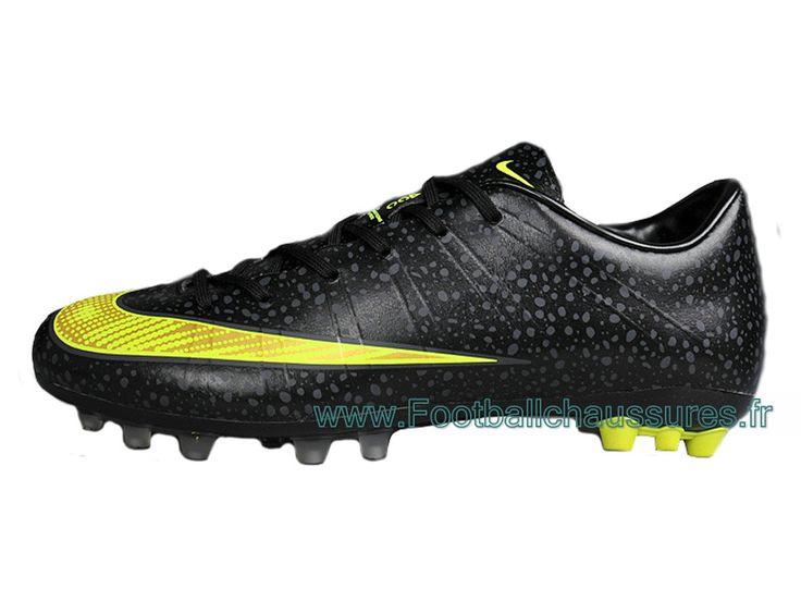 Nike Mercuril Victory V AG Chaussure DE Football Pour Pelouse Synthetique Pour Homme All Noir - 1410213113 - Boutique Chaussures De Football,Maillot De Foot!