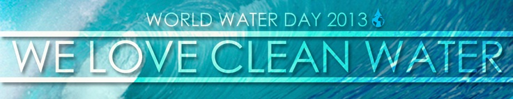 Today is World Water Day.    The stats:  23,481 beach closings and advisory days in one year alone due to high bacteria   3.5 million people becoming ill from contact with raw sewage each year.  Plastics as 90% of floating marine debris   Urban runoff as the #1 source of ocean pollution    Share and show your love for clean water. http://www.surfrider.org/