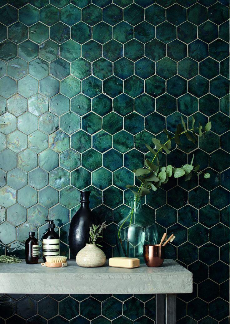 domus tile uk / terracotta range // I'm in love with the green tile! It's so interesting and different, but still in good (subjectively speaking) taste!