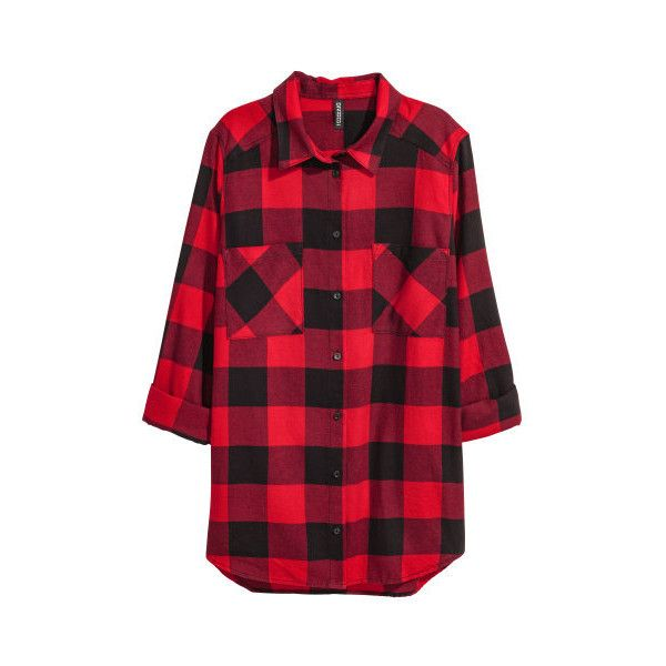 Flannel Shirt $17.99 (¥2,005) ❤ liked on Polyvore featuring tops, button collar shirt, long sleeve collar shirt, plaid long sleeve shirt, red shirt and flannel shirt