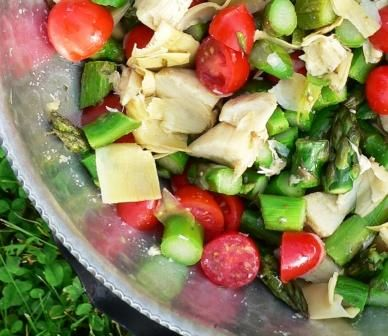 Roasted Asparagus and Artichoke Salad | Salad Sensations | Pinterest