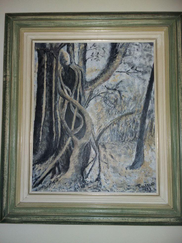 Obra de arte: pintura de Gislene T santos