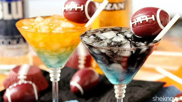 You won't care who wins the Super Bowl as long as you're sipping these team color cocktails