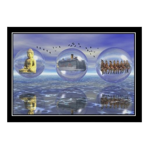 Holiday in Asia surreal poster Print