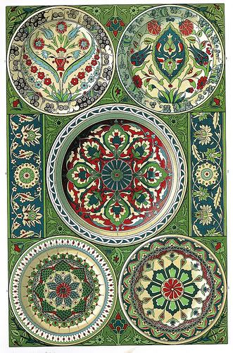 // Persian pottery and tile