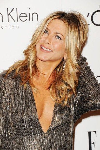 Celebrity Jennifer Aniston long hairstyle 2012