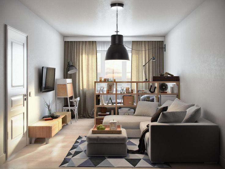 Если площадь квартиры не позволяют устроить спальню и кабинет в отдельных помещениях, и гостиная служит одновременно местом для сна и работы, встает вопрос: какие существуют варианты по совмещению гостиной, спальни и рабочего кабинета?