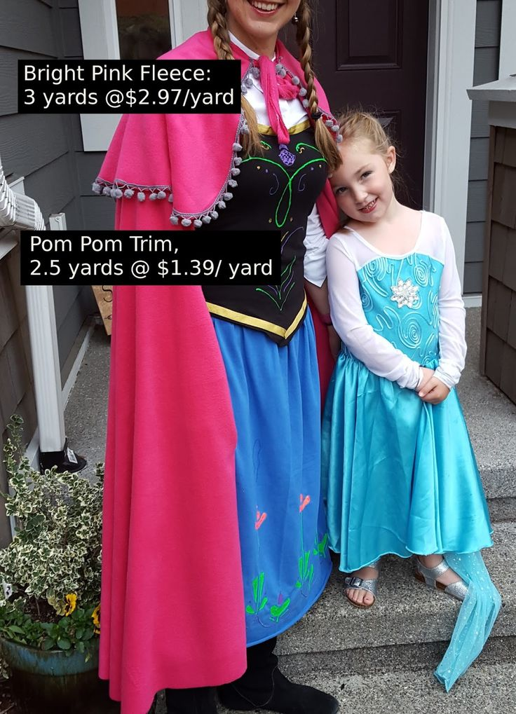My youngest, baby, only  5-year-old daughter asked me to be Anna.  That was pretty much all it took.  I had to seize this moment! Wh...