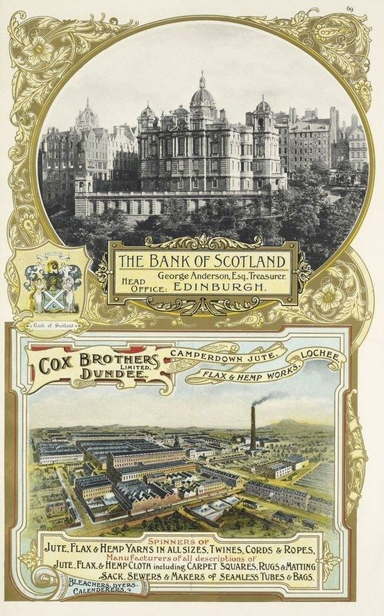 Bank of Scotland & Cox Brothers poster