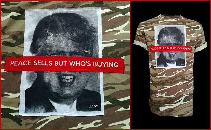 Peace Sells but Who's Buying camo t-shirt #fashion #style #gifts #clothing #mensfashion #mensfashion #menstyle #streetstyle #streetwear #patchwork #peace #sells #trump #kimjong #ww3 #NorthKorea #makeamericagreatagain #war #warisover #camotee