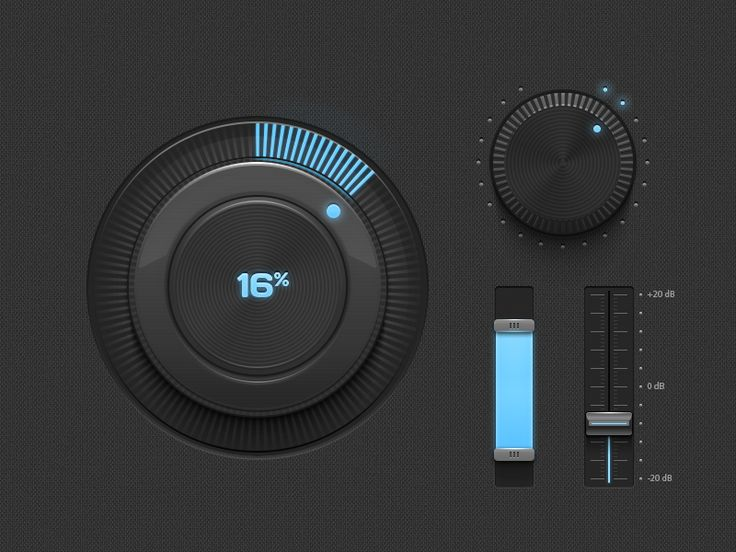 Light & Dark GUI - Some elements | #ui