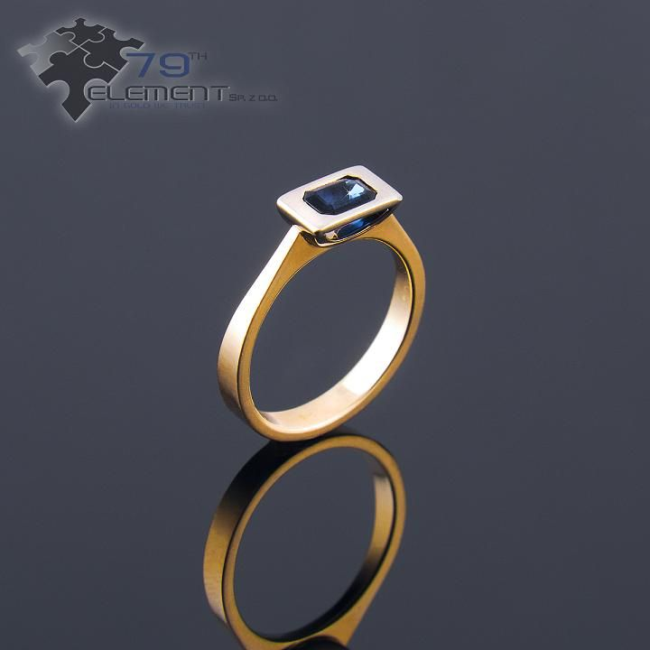 Ring made od Yellow 14k gold with sapphire 79diamenty.pl  #sapphire #yellowgold #rings