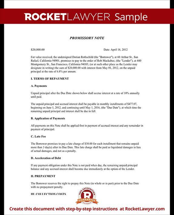 Sample Promissory Note