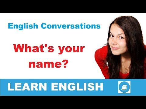 Learn English Conversation - What's your name? - E-Angol