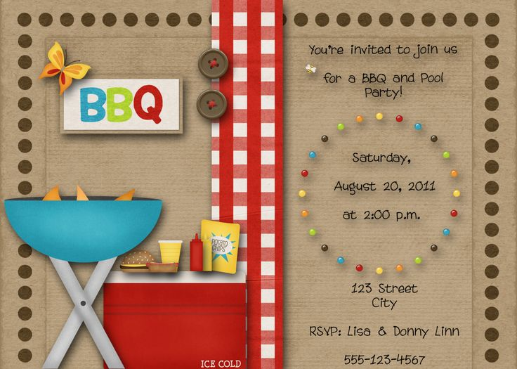 38 best Invitations images – Creative Pool Party Invitations