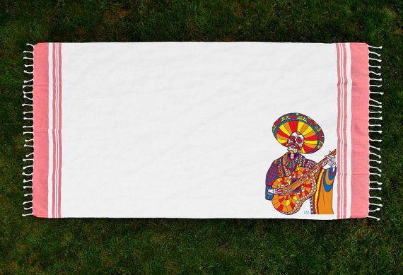 Mariachi Printed Turkish Bath/Beach Towel by ikiikishop on Etsy