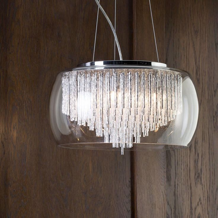 Large ceiling pendant luxurious lighting lifestyle wooden panelling