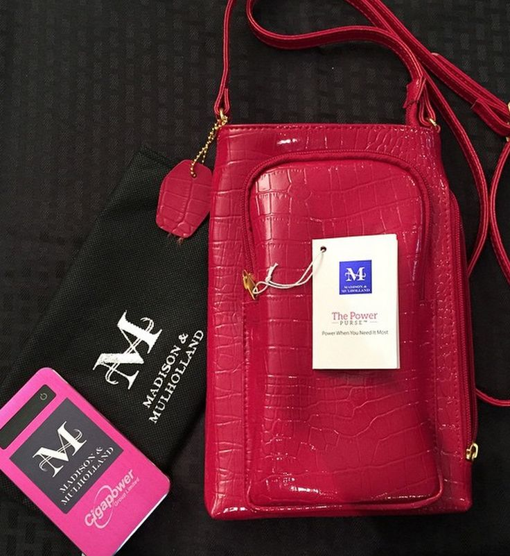 NEW!!!The Power Purse in red leather! comes with a powerful 4000 mAh cell phone charger! get $100 off when you pre-order now (delivery in April) Use discount code: TPP100 http://thepowerpurse.com