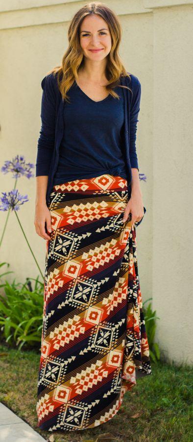 LulaRoe tribal maxi skirt. http://www.lularoe.com