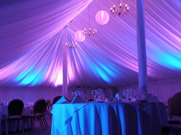 The marquee lit up at night http://www.prested.co.uk/weddings/