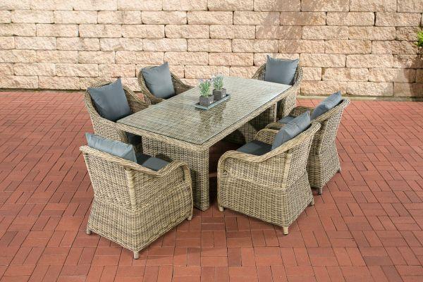 Diese Gartengarnitur Mit 6 Stuhlen Ist Komplett Aus Polyrattan