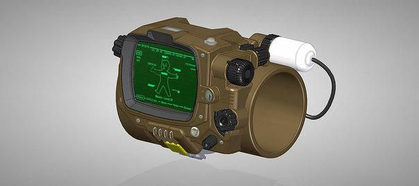 Fallout 4 - Pip-Boy 3000 Papercraft Free Template Download - http://www.papercraftsquare.com/fallout-4-pip-boy-3000-papercraft-free-template-download.html#Fallout, #PipBoy3000