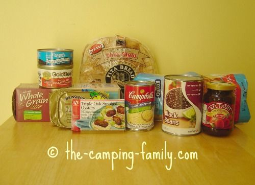 Some of the staples we take for our camping lunches.