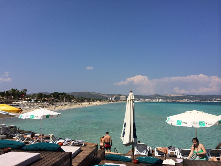 Ilıca view from Ceshme Plus Hotel beach