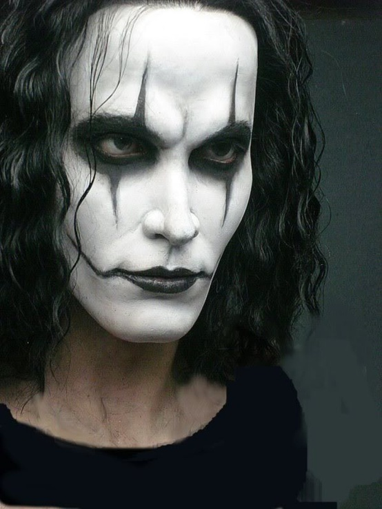 Brandon Lee on set of The Crow