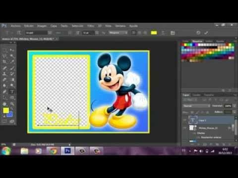Como hacer un marco sencillo en Photoshop C6 - YouTube
