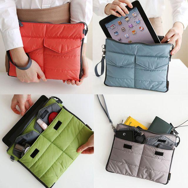 Useful Organizer Sleeve Pouch Storage iPad Bag Travel Ipad Mini Soft With Handles Hogard