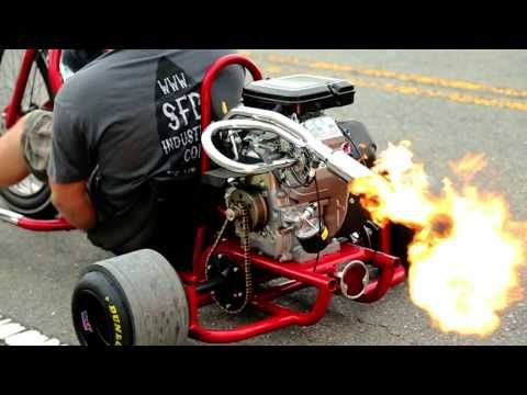 Video: flame-spitting motorised drift trikes are a Good Thing | Top Gear