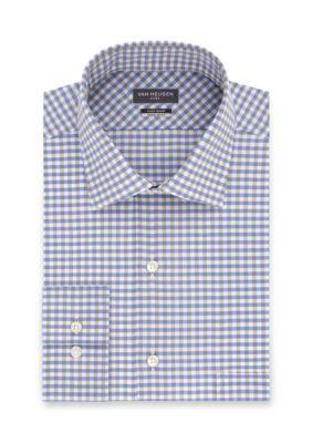 Van Heusen Men's Wrinkle Free Big & Tall Dress Shirt - Blue - 18.5 35/36