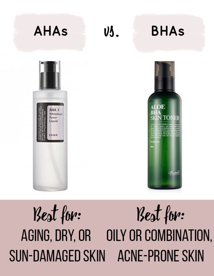 The difference between AHAs and BHAs, and which ones right for you