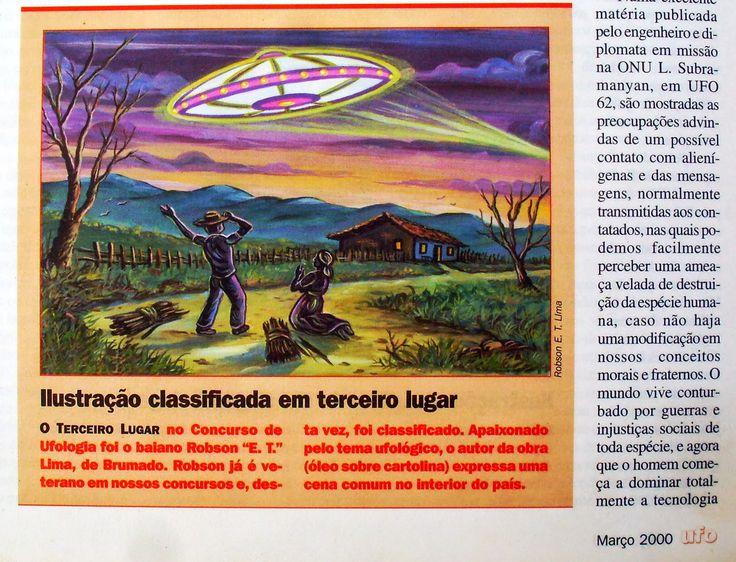 #ÓVNIs #UFOs #DiscosVoadores Uma ilustração que criei para o Segundo Concurso Nacional de Ufologia da REVISTA UFO, o título dela é COISA do OUTRO MUNDO. Dei esse nome devido ao fato das pessoas mais simples e sem nenhuma instrução confundir os Objetos Voadores Não Identificados com lendas e histórias dos antepassados que falavam da MÃE do OURO e outras coisas estranhas, que, de repente, surgem no céu. Essas histórias são muito comuns nas localidades mais afastadas dos centros urbanos, eu…