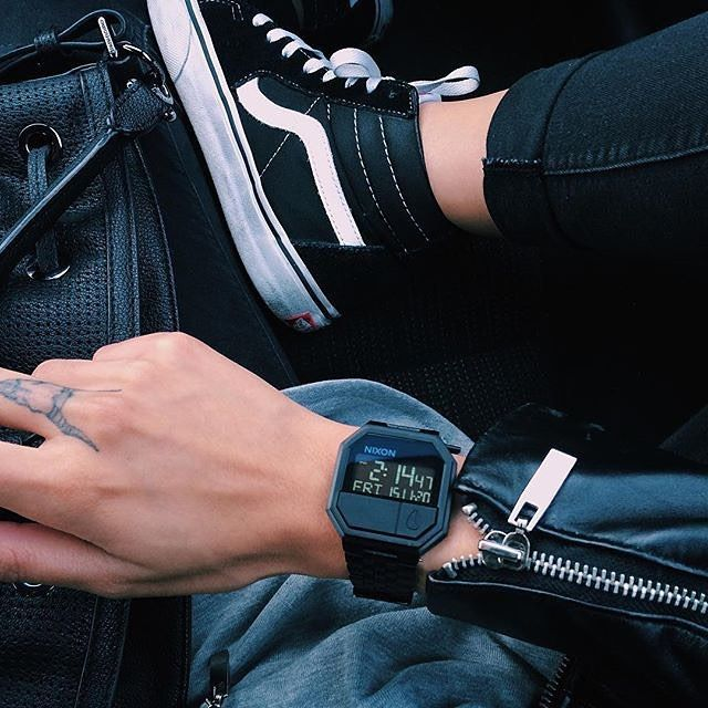 Nixon Re-Run Leather @fashionablekilla