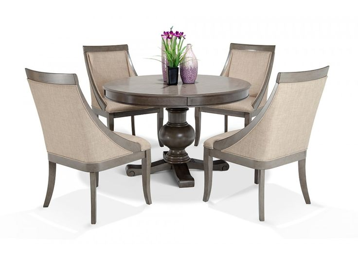 Gatsby Round 5 Piece Dining Set With Swoop Chairs | Bob's Discount Furniture