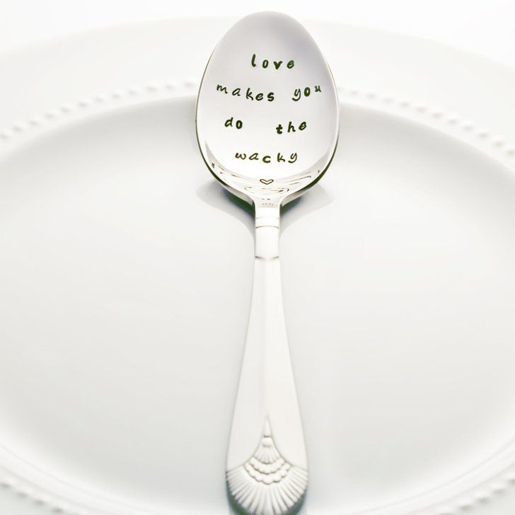 """Pin for Later: 35 Buffy the Vampire Slayer Gifts That Will Speak to Every Superfan's Soul  """"Love Makes You Do the Wacky"""" Quote Spoon ($20-$23)"""