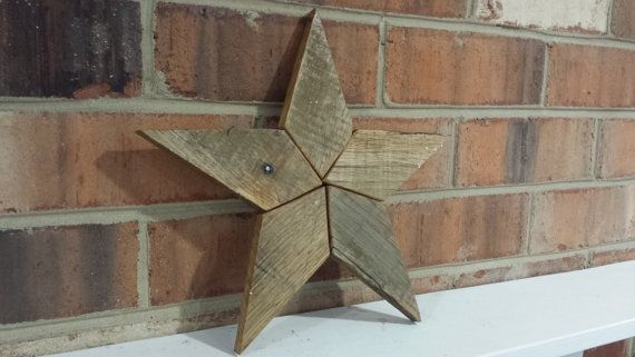 Reclaimed Wood Pallet Wood Star by JeffsRusticHomeDecor on Etsy