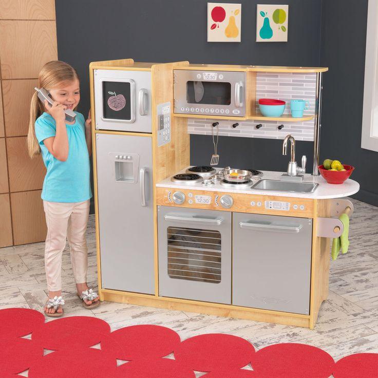 KidKraft Uptown Natural Pretend Play Kids Wooden Kitchen | 53298