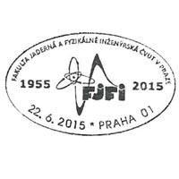 Sonderstempel Tschechische Republik physikalische Fakulätat Universität Prag