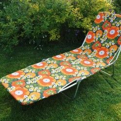 1970s' sun lounger from vintageactually.co.uk