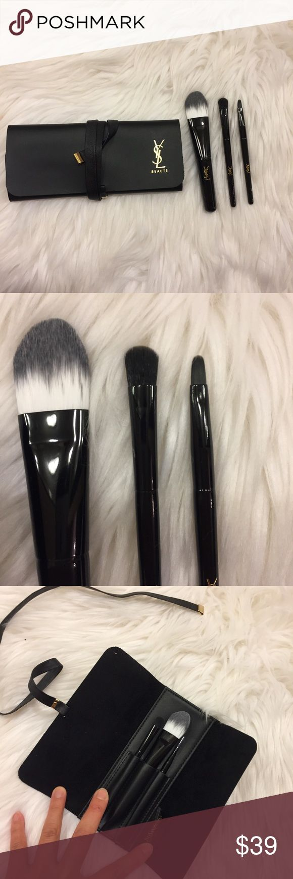 YSL beauty travel size makeup brush set Never used new