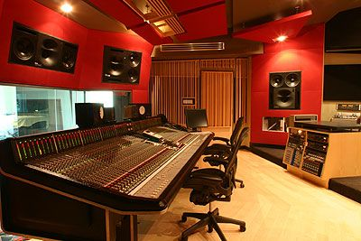recording studio...making music