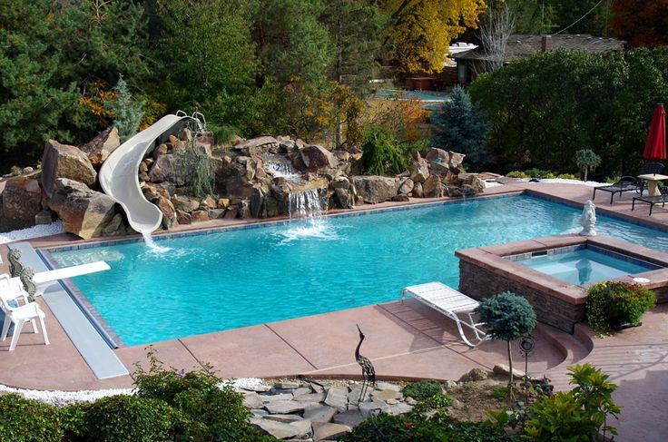 50 best images about outdoor fun on pinterest fiberglass for Pool design boise