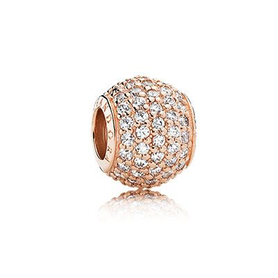 PANDORA | Abstract pave PANDORA Rose charm with cubic zirconia