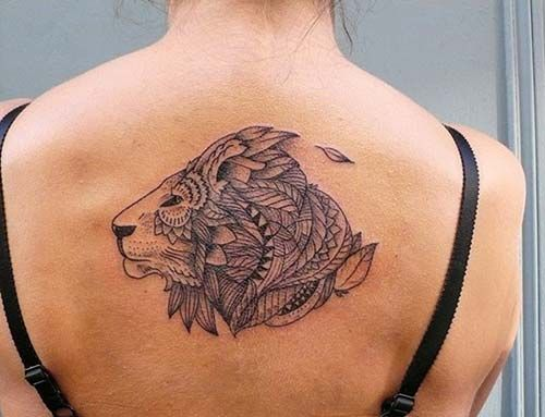 mandala lion head tattoo tribal aslan kafası dövmesi