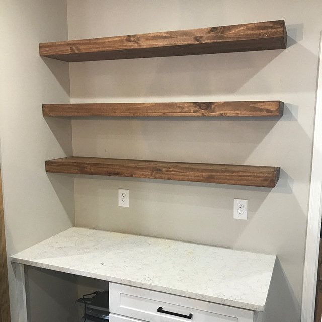 Wood Floating Shelves 10 Inches Deep Rustic Shelf Farmhouse Shelf Floating Shelf Reclaimed Wood Handmade Shelf Floating Shelves Wood Floating Shelves Shelves