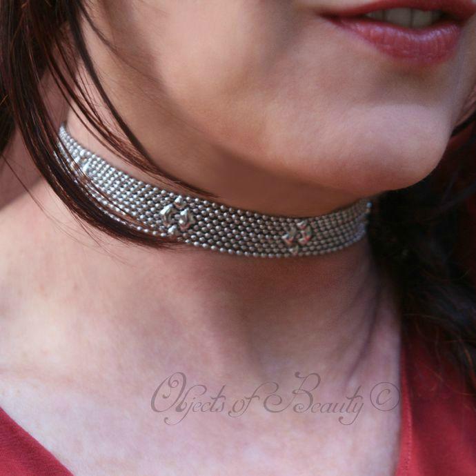 Juliette's Kiss Liquid Metal Choker newly listed and On Sale Now at ObjectsOfBeauty.com